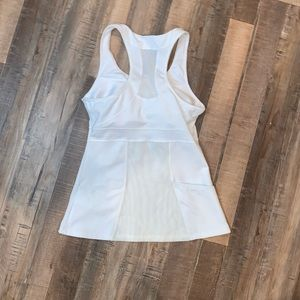 ATHLETA Racerback Tank with Mesh Accents